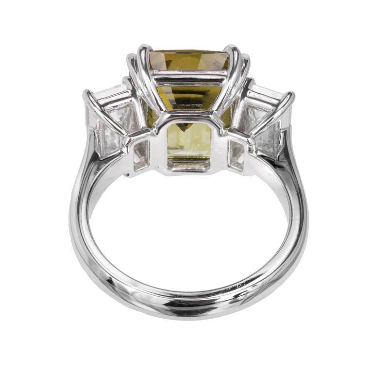 Emerald Cut Peter Suchy 9.65 Carat Alexandrite Diamond Platinum Engagement Ring For Sale
