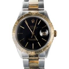 Rolex Yellow Gold Stainless Steel Thunderbird Turn O Graph DateJust Wristwatch