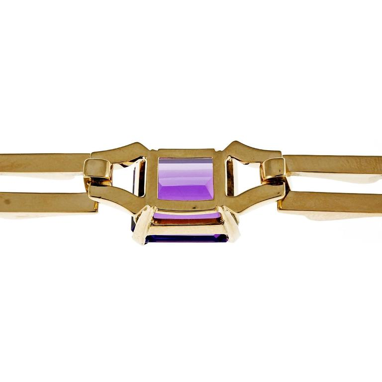 Tiffany & Co. Amethyst Yellow Gold Link Bracelet For Sale 1