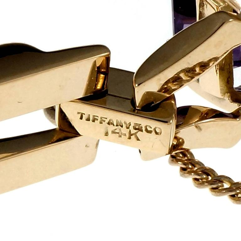 Tiffany & Co. Amethyst Yellow Gold Link Bracelet For Sale 3