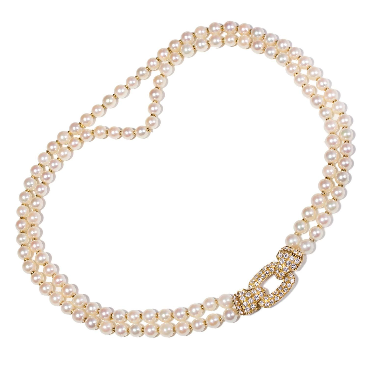 three necklace jewellery en pearl london strand pearls