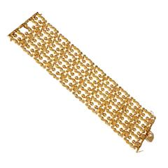 Wide Italian Hinged Gold Bracelet