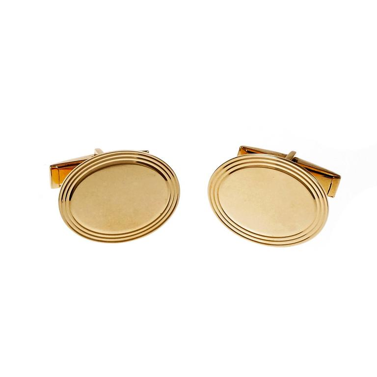 Larter & Sons Oval Gold Cufflinks