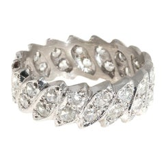 Diamond Platinum Eternity Band Ring