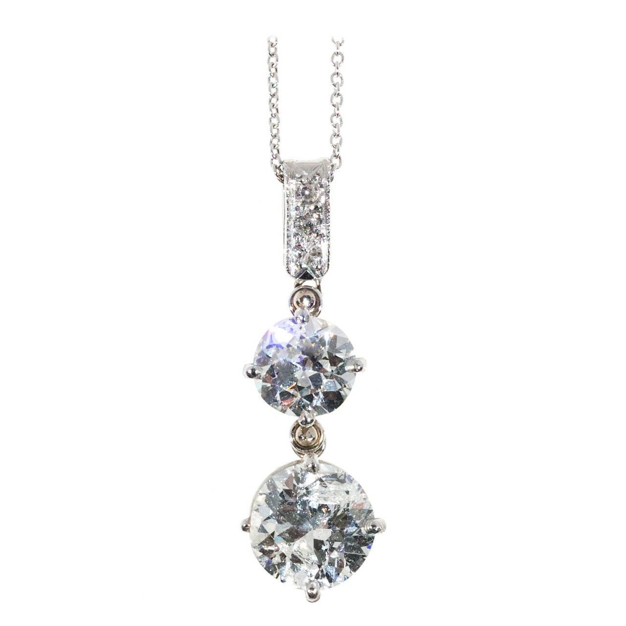 Diamond Platinum Pendant Necklace