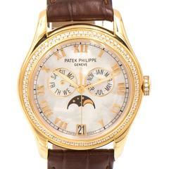 Patek Philippe Ladies Yellow Gold Diamond Moon Phase Automatic Wristwatch