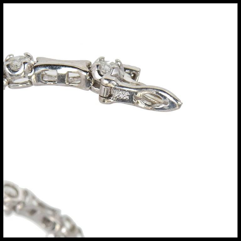 1.60 Carat Diamond Hinged Link Gold Bracelet In Good Condition For Sale In Stamford, CT