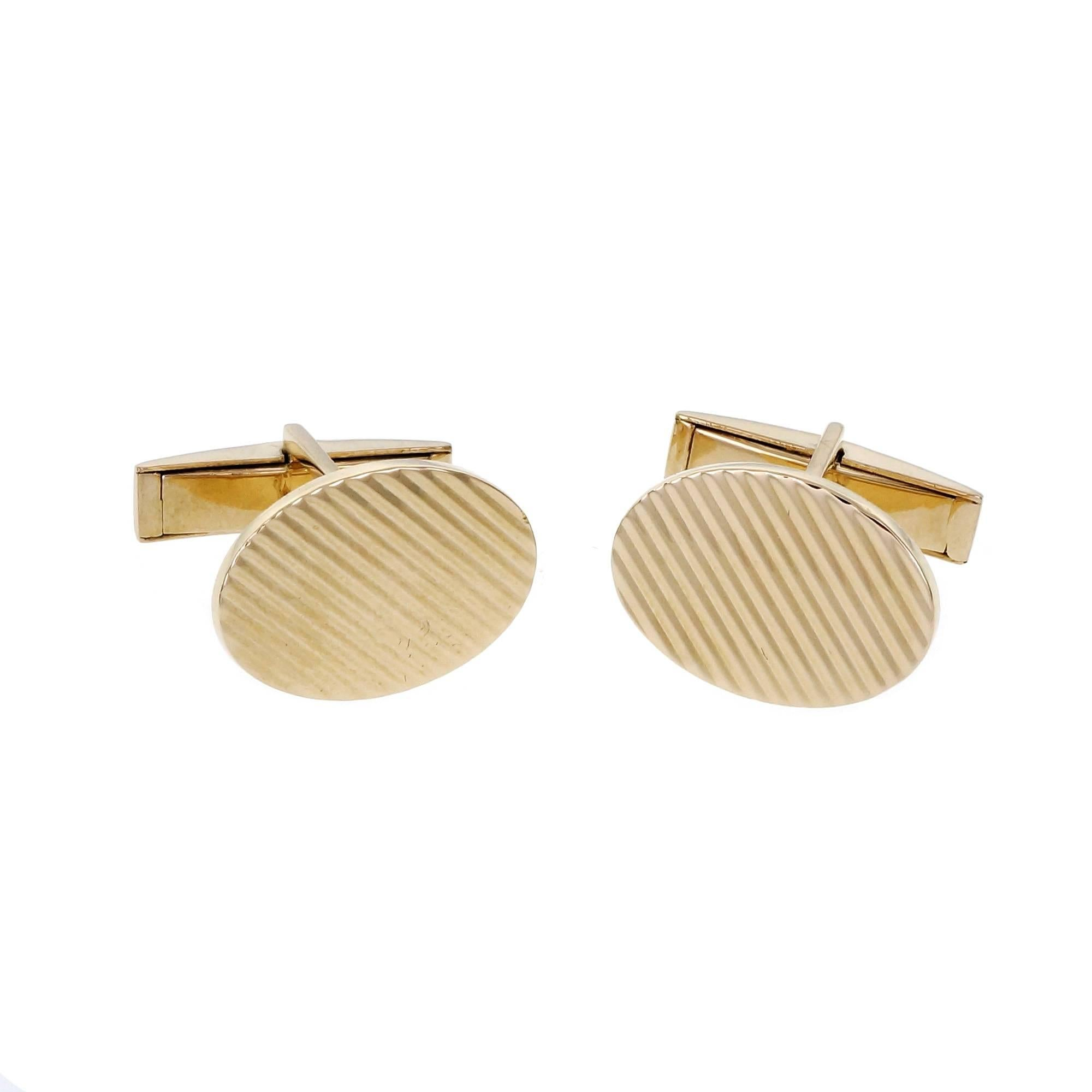 Larter & Sons Yellow Gold Cufflinks
