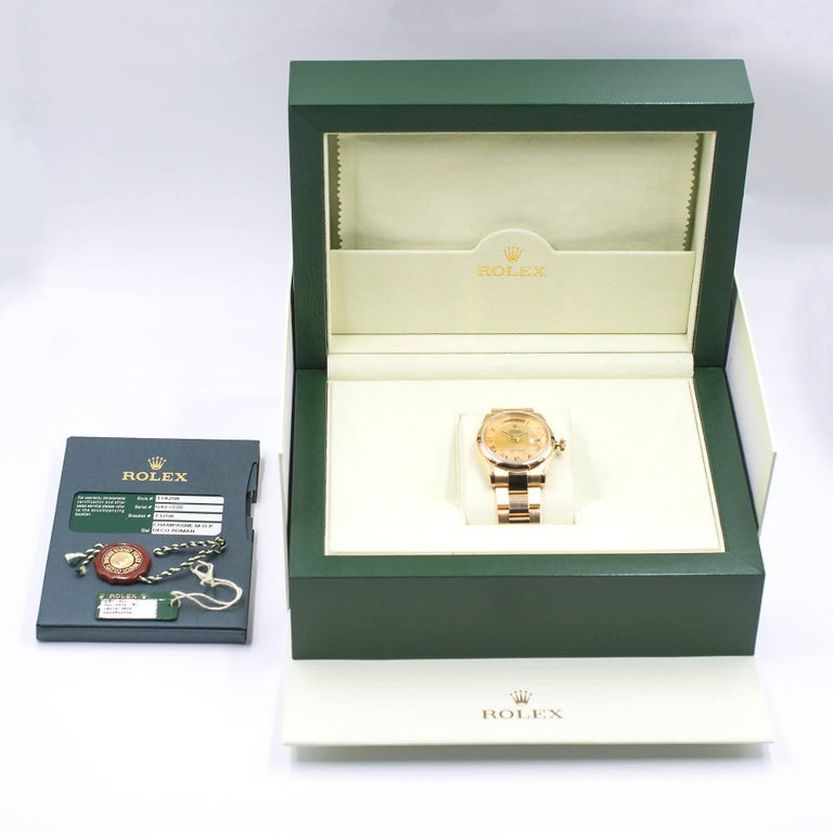 Rolex Yellow Gold Day-Date President automatic Wristwatch Ref 118208 For Sale 1