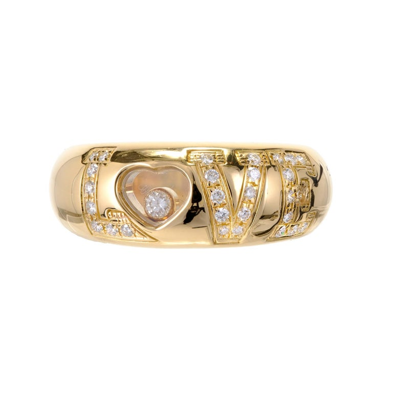 5ed74a1450124 Chopard Happy Diamond Gold Love Ring For Sale at 1stdibs