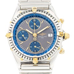 Breitling Yellow Gold Stainless Steel Chronograph Date Automatic Wristwatch