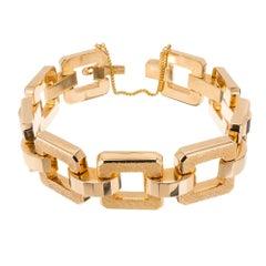 Vintage 1940s Gold Hinged Link Bracelet