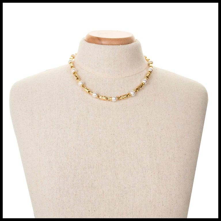 Bulgari Passo Doppio Pearl Gold 2 Necklace Set For Sale 4