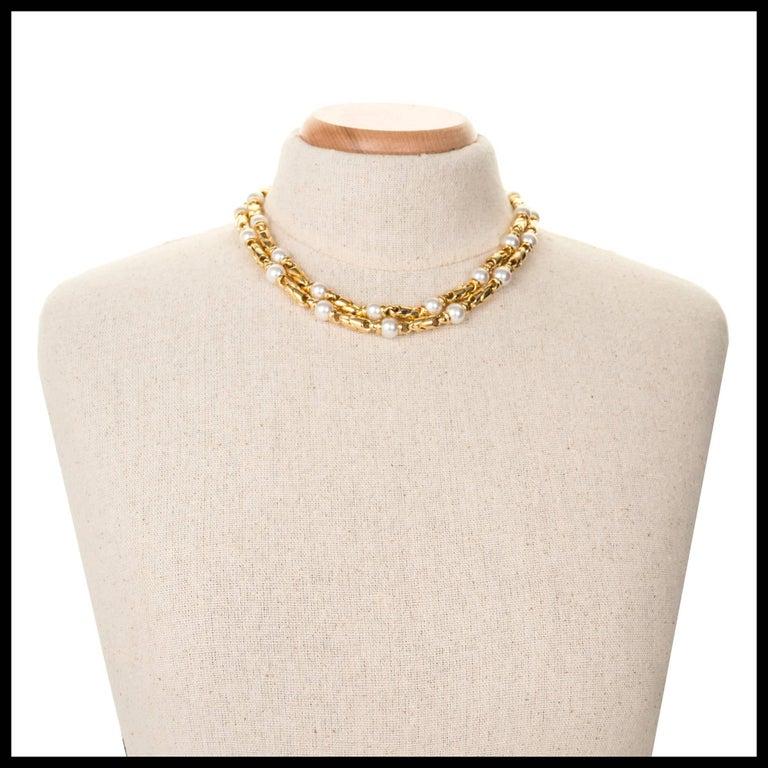 Bulgari Passo Doppio Pearl Gold 2 Necklace Set For Sale 3