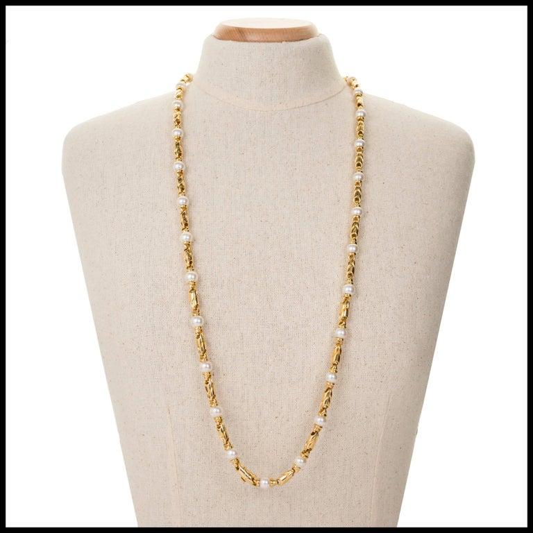 Bulgari Passo Doppio Pearl Gold 2 Necklace Set For Sale 2