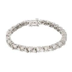 2.00 Carat Diamond Two-Row Gold Bracelet