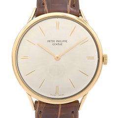 Patek Philippe Yellow Gold Calatrava Manual Wristwatch Ref 3484, circa 1960s