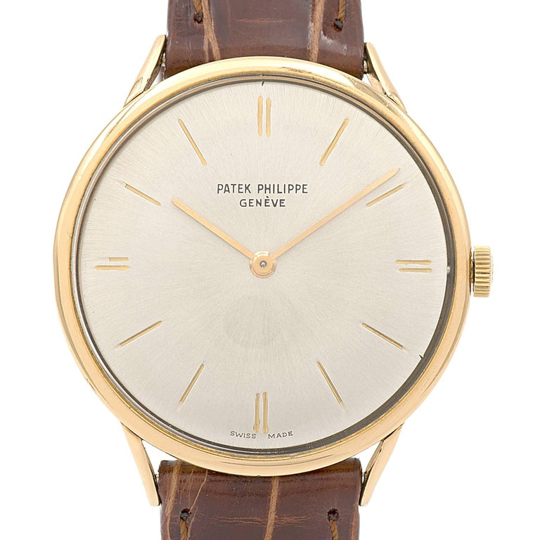 Patek Philippe Yellow Gold Calatrava Manual Wristwatch Ref 3484, circa 1960s