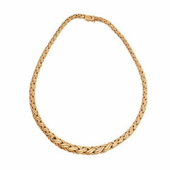 Tiffany & Co. Woven Graduated Link Gold Necklace