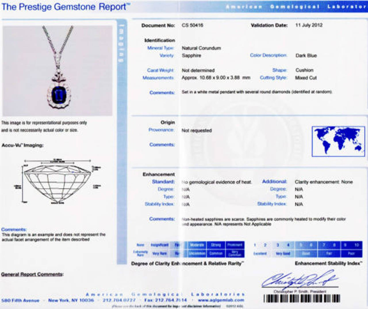 Victorian Natural No Heat Cushion Sapphire Diamond Platinum Necklace 7