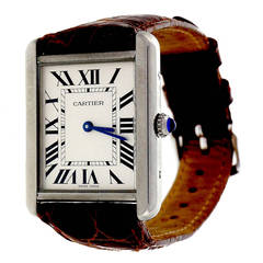 Cartier Stainless Steel Tank Solo Wristwatch Ref 3169