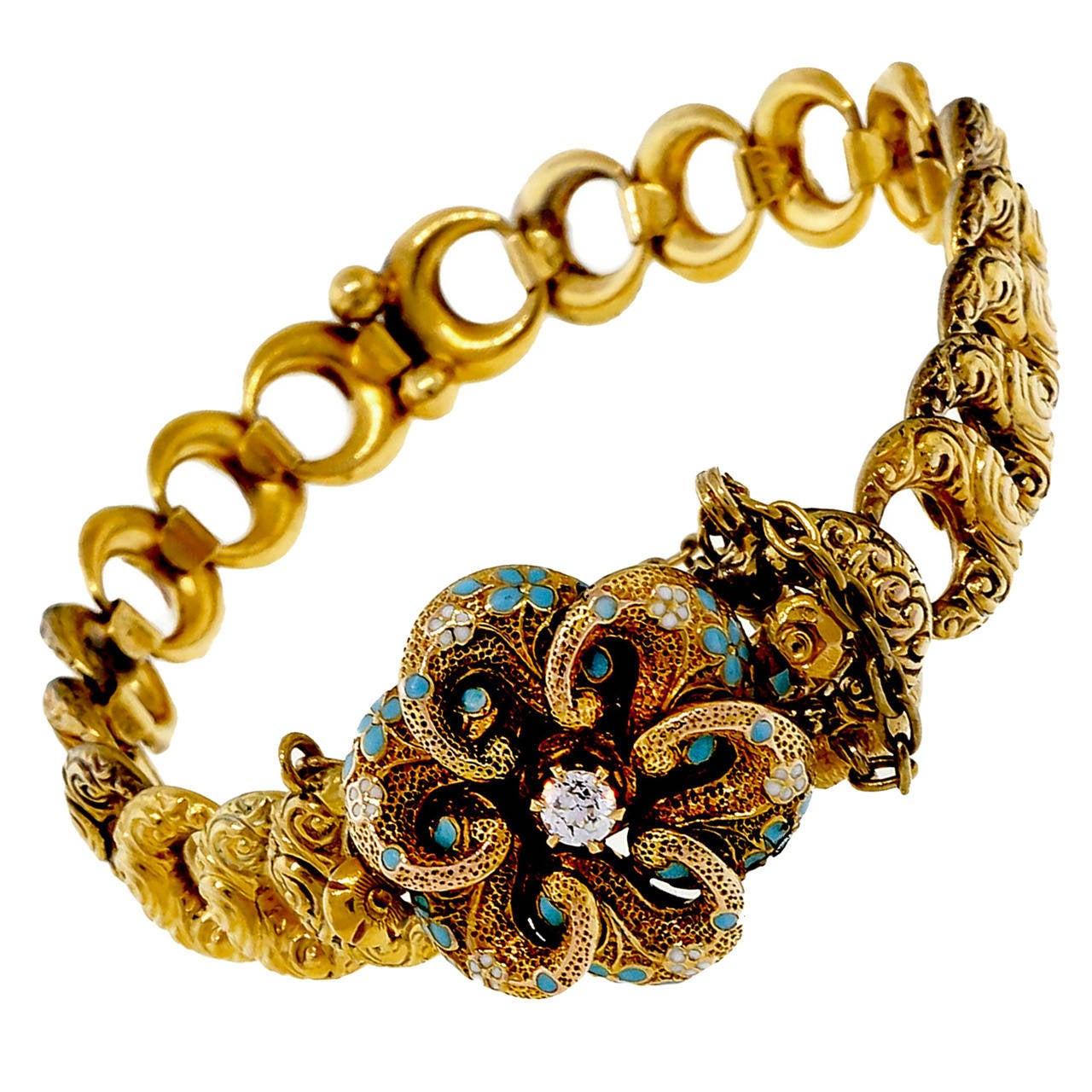 krementz blue enamel european gold