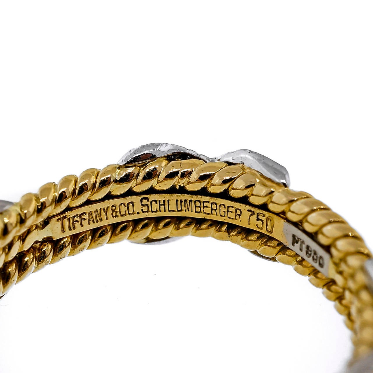 Tiffany And Co Schlumberger Diamond Gold Platinum Three