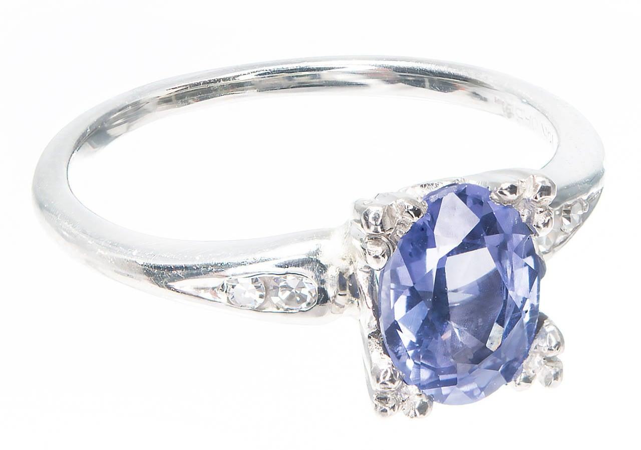 Jabel Natural Gia Cert Blue Sapphire Diamond Gold Engagement Ring 2