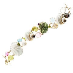 Shell Gemstone Gold Bracelet