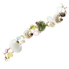 Shell Gemstone Gold Bracelet
