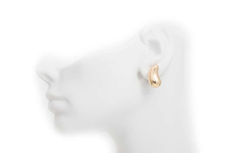 Tiffany Co Peretti Clip Post Gold Bean Earrings For 1