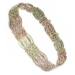 Russian Pink Green Gold Gate Bracelet