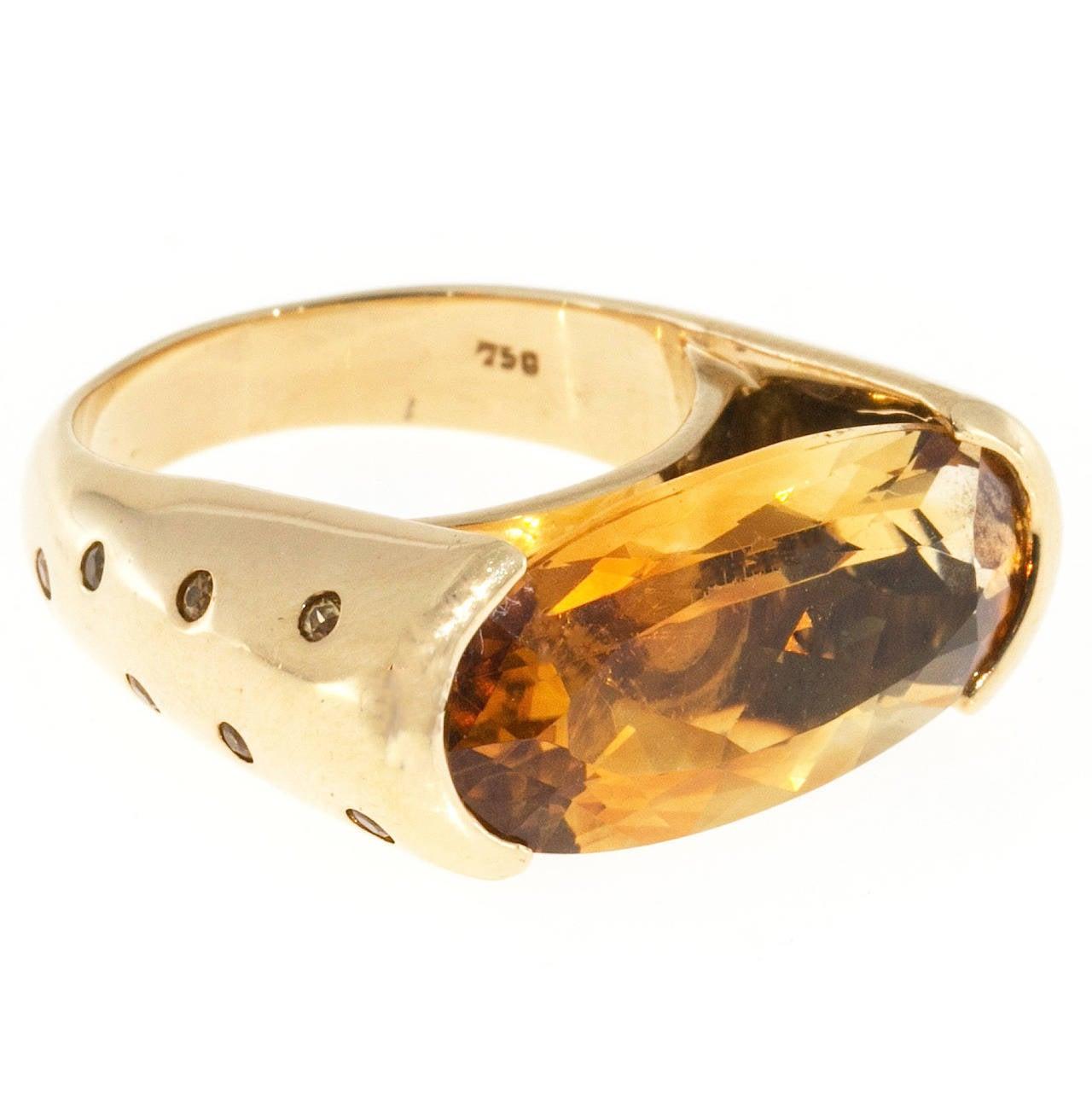 Black Gold Ring Citrine