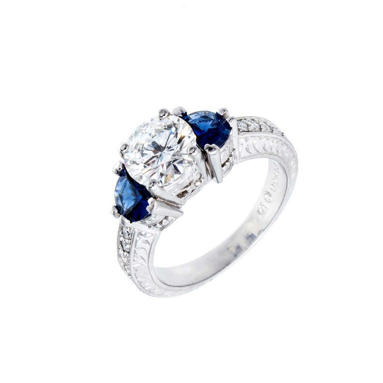 Peter Suchy Timeless Designs Sapphire And Diamond