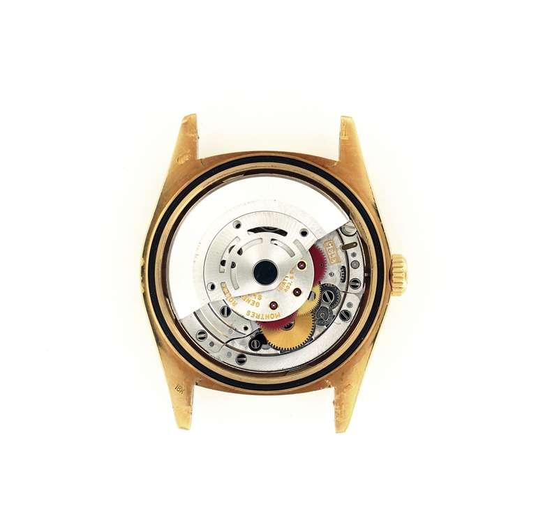 Women's or Men's Rolex Yellow Gold Datejust Blue Dial Wristwatch Ref 16238