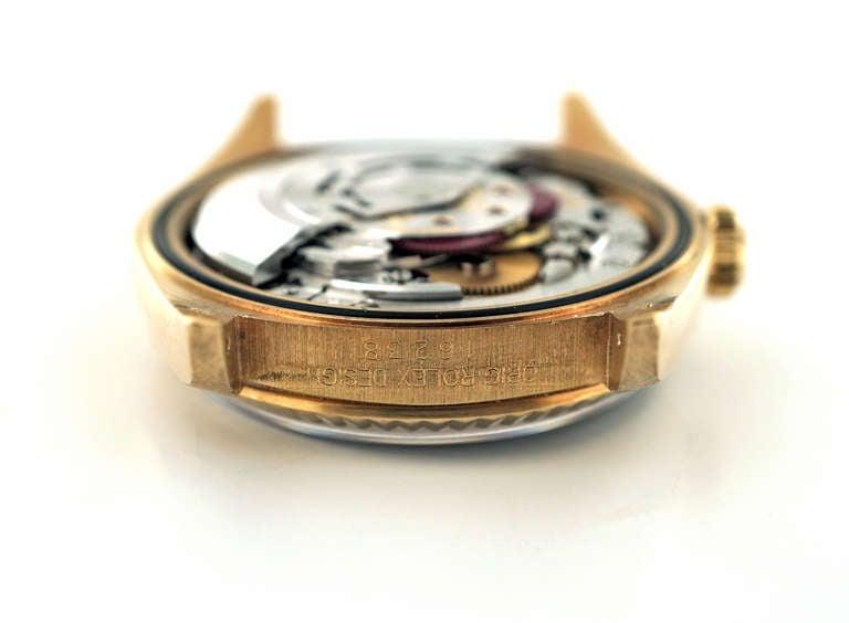 Rolex Yellow Gold Datejust Blue Dial Wristwatch Ref 16238 1
