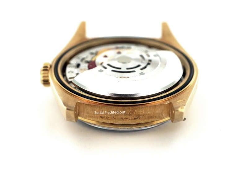 Rolex Yellow Gold Datejust Blue Dial Wristwatch Ref 16238 2