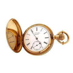 A. Lange & Sohne Hunting Cased Pocket Watch circa 1880s