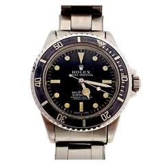 Rolex Stainless Steel No-Date Submariner Wristwatch Ref 5512