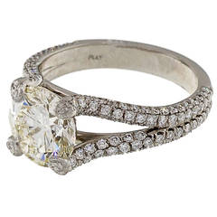 Peter Suchy Diamond Split Shank Platinum Engagement Ring
