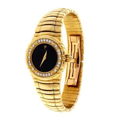 Piaget Ladies Yellow Gold Diamond Bezel Quartz Wristwatch