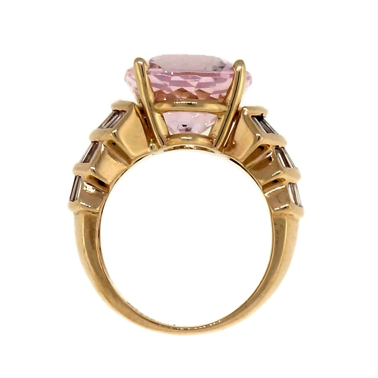 Morganite And Diamond Cocktail Ring