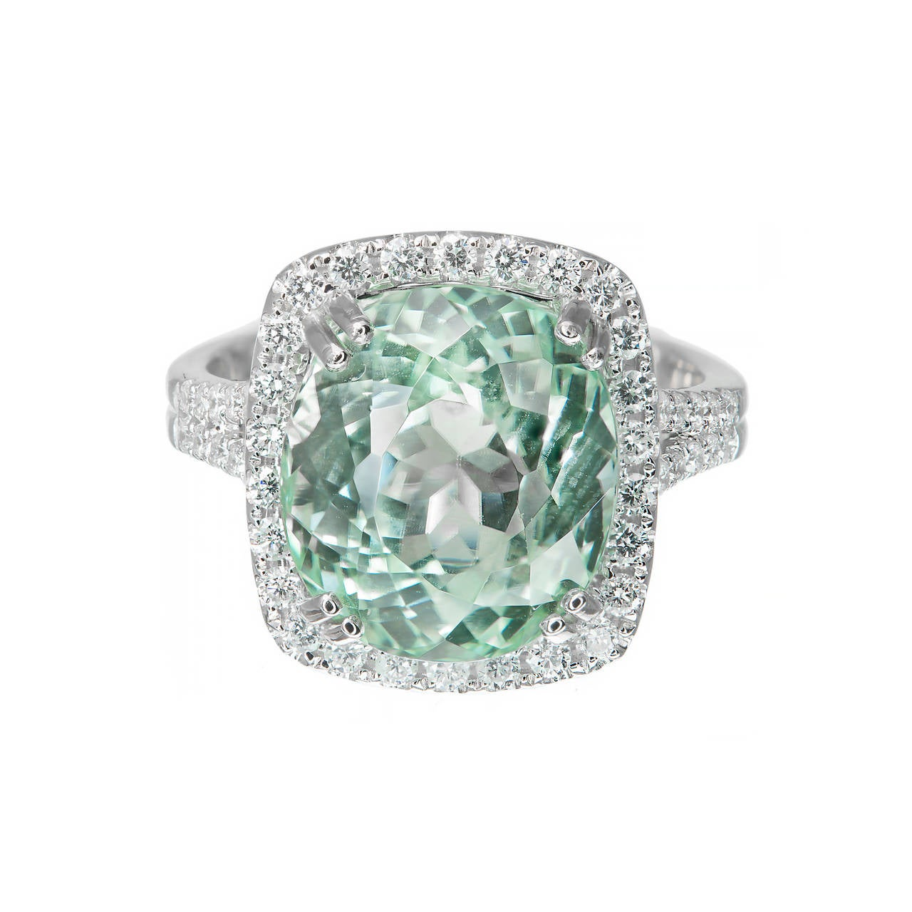 light diamond vintage green classic product baguette engagement ring platinum solitaire