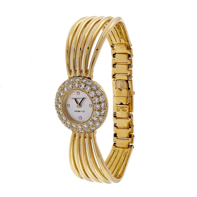 Audemars Piguet For Tiffany and Co La s Diamond Gold Bracelet