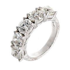 Tiffany And Co Etoile Four Row Pave Diamond Platinum Ring