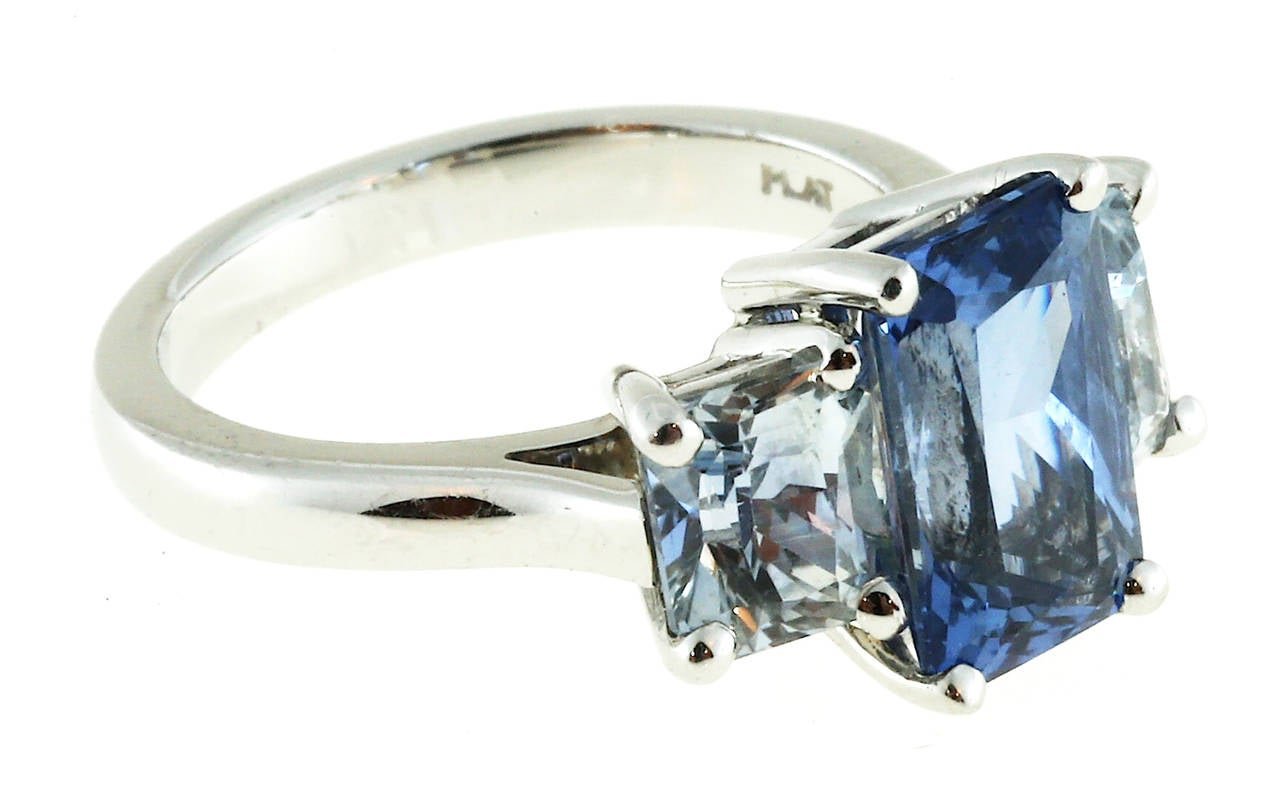 Peter Suchy Light Blue Sapphire Platinum Ring For Sale at 1stdibs
