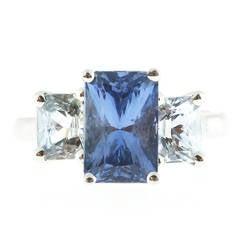 Peter Suchy Light Blue Sapphire Platinum Ring