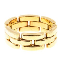 Three Row Gold  Link Ring