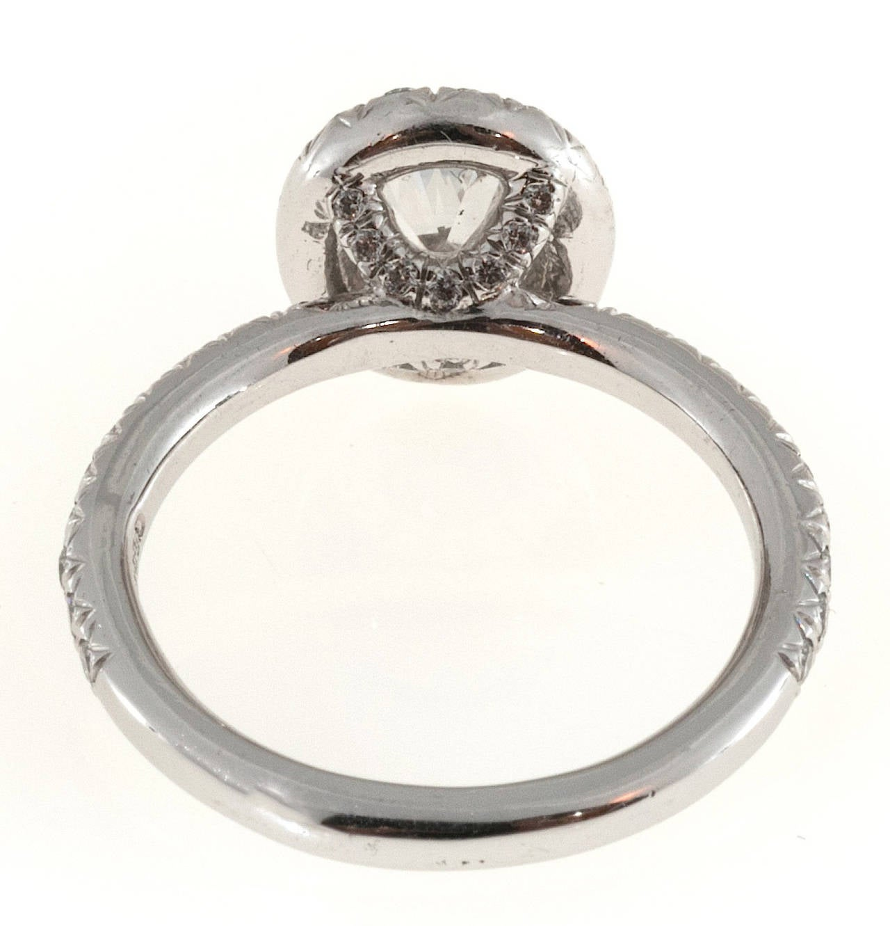 Kwiat Oval Diamond Micro Pave Platinum Ring 2