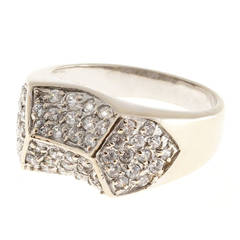 Pave Diamond Gold Dome Ring